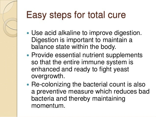 anal yeast infection cure